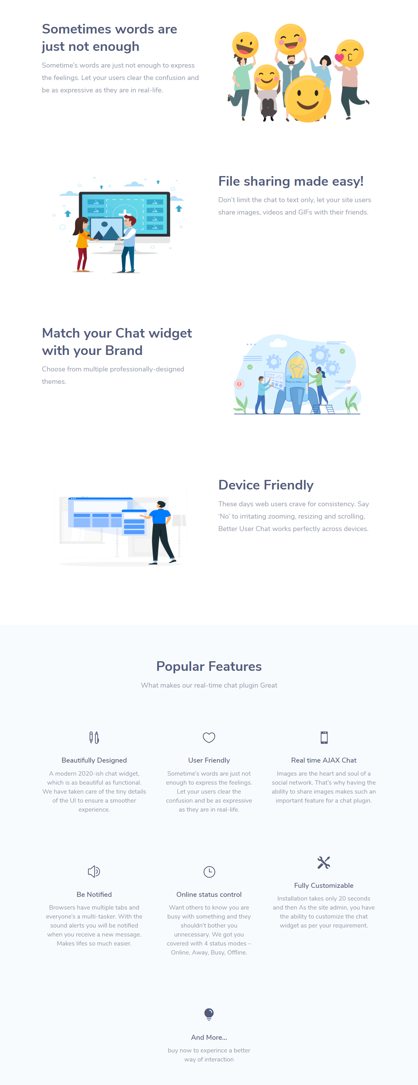 Better User Chat for BuddyPress features