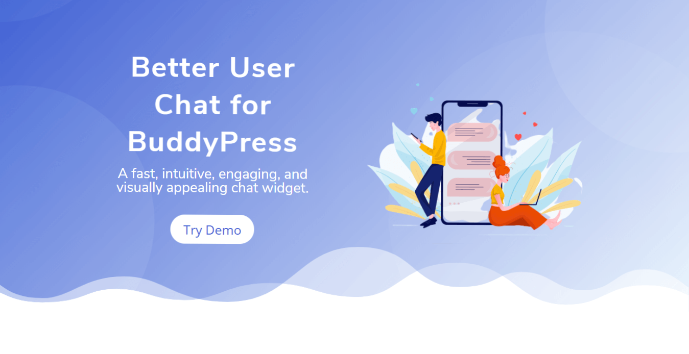 Try free demo for Better User Chat for BuddyPress